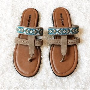 Minnetonka Leather Sandals Size 8